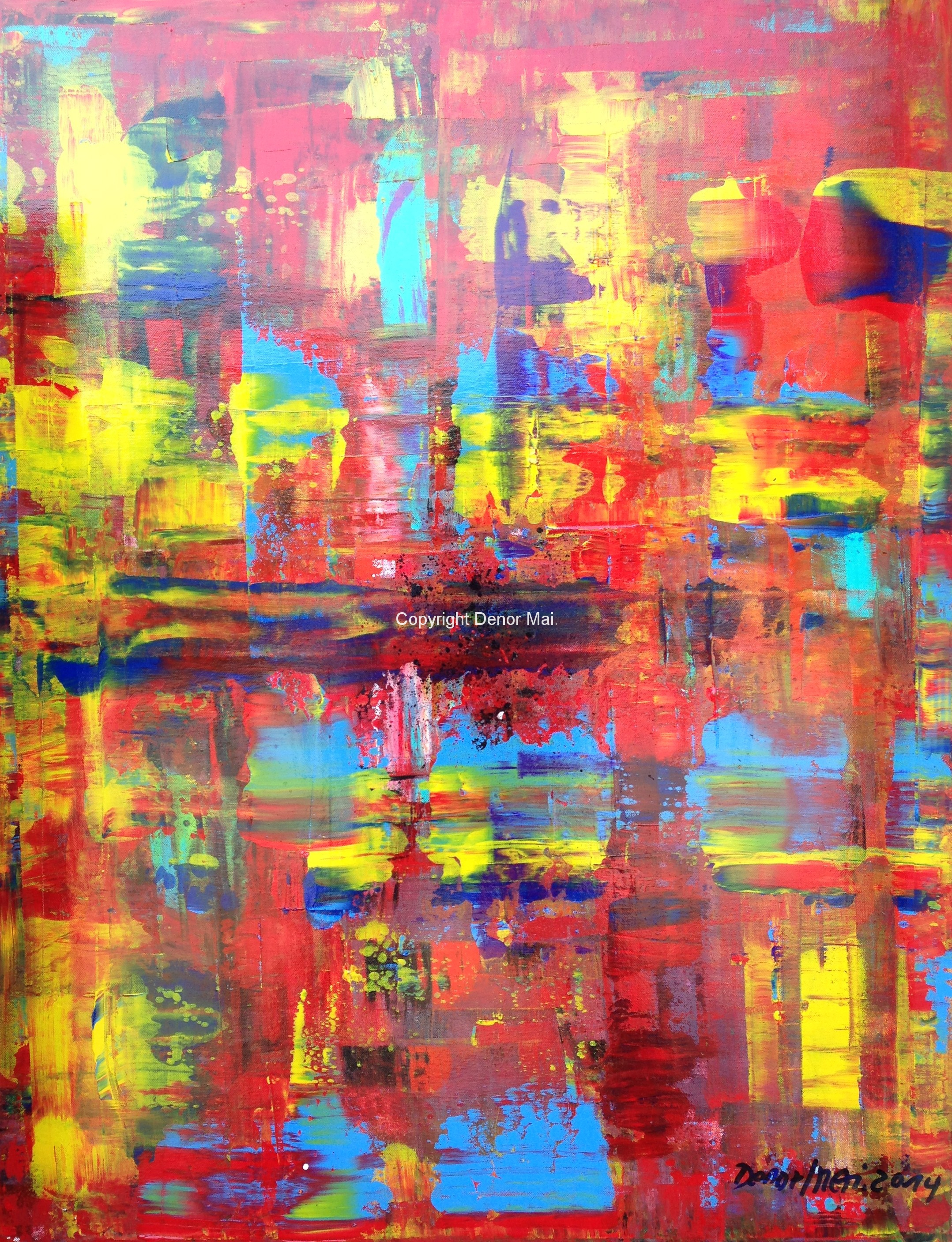 Abstrakt rot 90x70