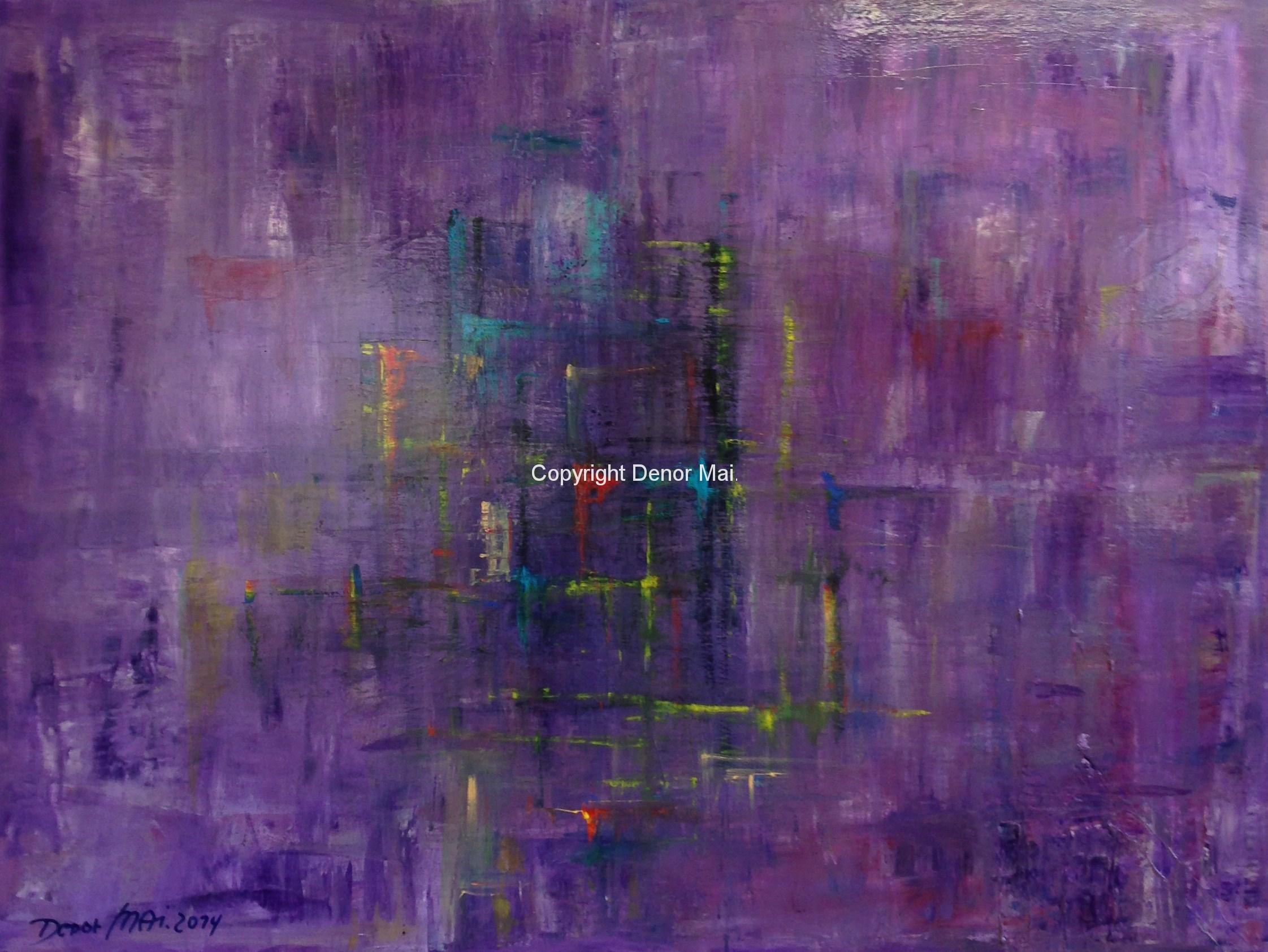 Abstrakt violett 120x160