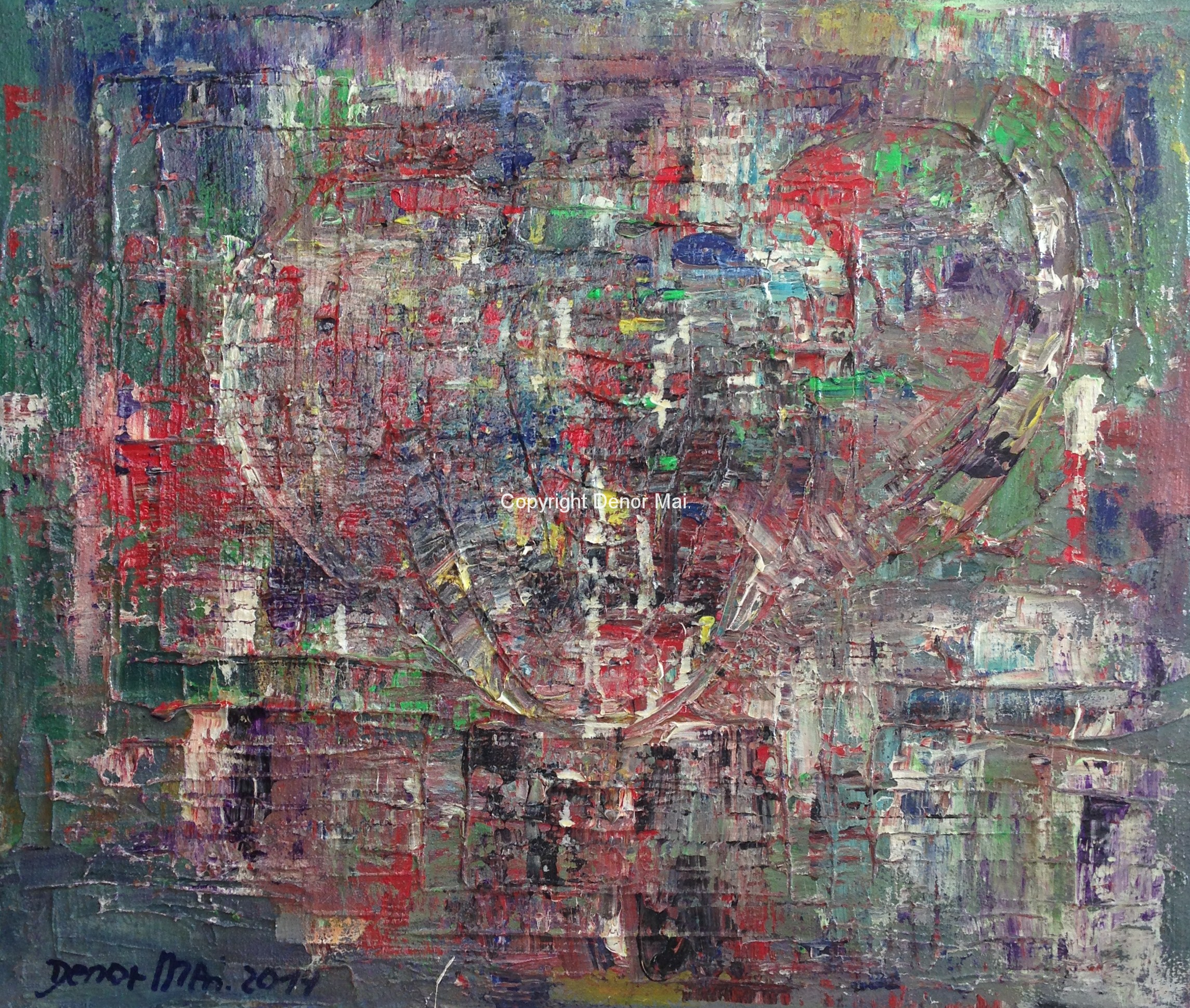 Ballonfahrt, 2014, 60x70