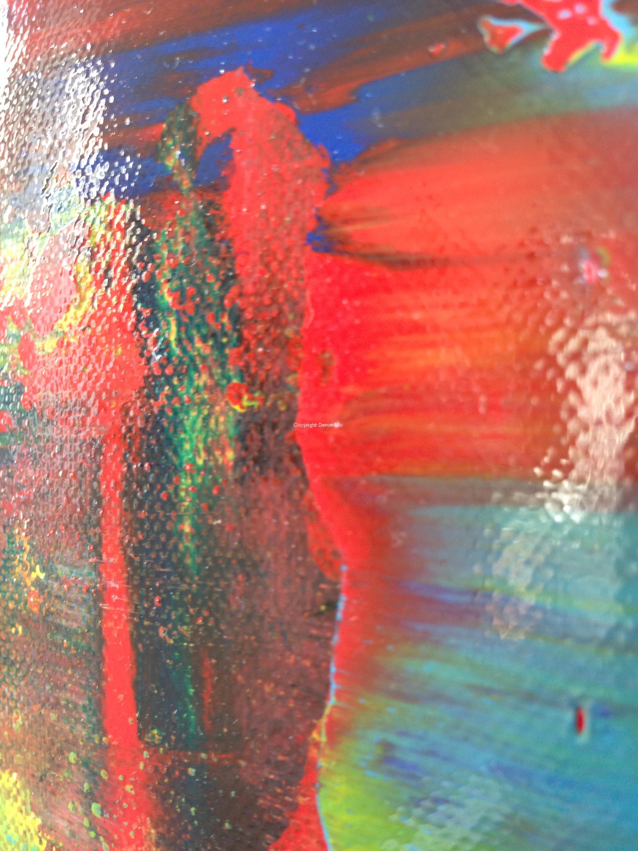 Abstrakt rot 90x70 Zomm2