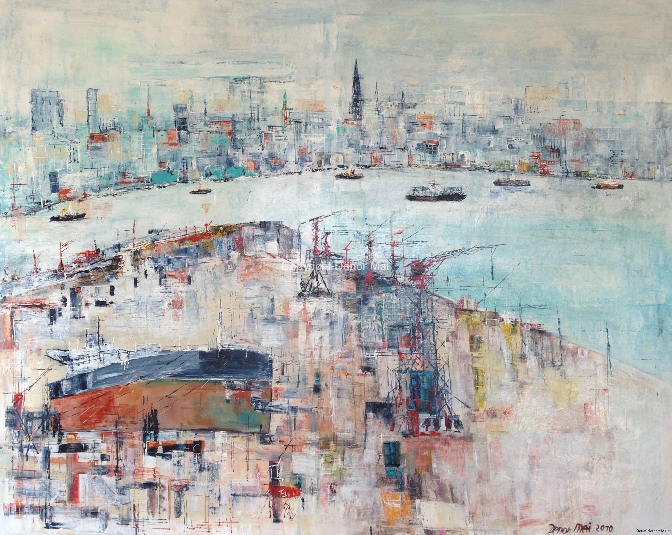 Hamburg Hafenpanorama,2010, 120x150