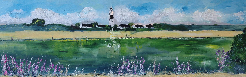 Leuchtturm Kampen,2014, 50x150