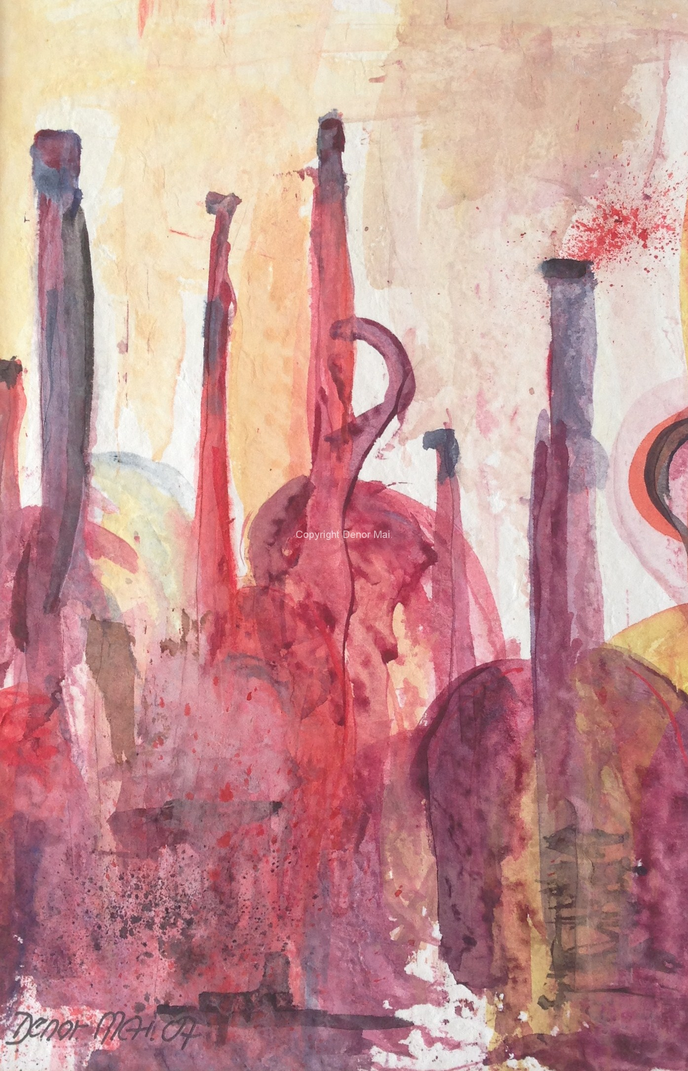 Rote Flaschen, 2007, 30x20