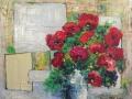 Mohn mit Quadraten, 2013, 50x60